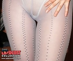 The best of pantyhose upskirts