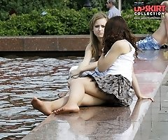 Girls sitting upskirts exclusive hot