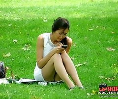 Girls on the grass exclusive upskirt